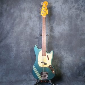 Fender Competition Mustang Lake Placid Blue 1971 Vintage Bass Guitar + Case