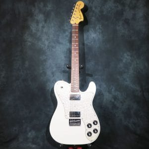 Fender Chris Shiflett Telecaster Deluxe 2012 Arctic White Foo Fighters Guitar + Hardshell Case