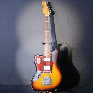 Fender Kurt Cobain Roadworn Jaguar Left Handed 2011 Sunburst Guitar + Case